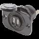 12V Dual USB Charger Socket 5V 2.1A - P/N #1016